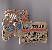 PIN'S THEME SPORTS / CYCLISME TOUR DE FRANCE  16 JUILLET 1991 QUIMPER  SAINT HERBLAIN - Ciclismo