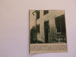 """Origineel Knipsel ( A 548 ) Uit Tijdschrift """" De Stad """"  1932 :    Brand  Sint - Truiden - Zonder Classificatie"""