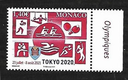 Monaco 2020 - Yv N° 3257 ** - Jeux Olympiques De Tokyo - Neufs