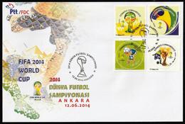 2014 Turkey FIFA World Cup In Brazil FDC (!!! Scarce Withdrawn Issue !!!) - 2014 – Brazilië