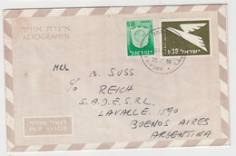 ISRAEL 1959 AEROGRAMME BY AIRMAIL DEER TO BUENOS AIRES ARGENTINA - Unclassified