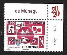 Monaco 2020 - Yv N° 3257 ** - Jeux Olympiques De Tokyo - Ungebraucht