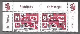 Monaco 2020 - Yv N° 3257 ** - Jeux Olympiques De Tokyo - Unused Stamps