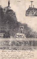 GORZE - MOSELLE - (57) - CPA DOUBLE-VUES 1905. - Andere Gemeenten