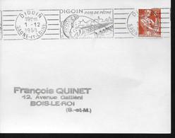 FRANCE  Carte  1958 Digoin Poissons Peche Ponts - Sin Clasificación