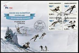 2014 Turkey Winter Olympic Games In Sochi FDC - Winter 2014: Sochi