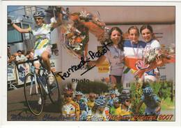 CARTE DE PAULINE FERRAND PREVOT CHAMPIONNE DE FRANCE CADETTE 2007 - Cycling