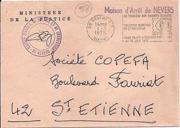 """58 . NIEVRE . 58-NEVERS RP . SECAP . 1975 + ENTETE """"MAISON D'ARRET DE NEVERS"""" - Maschinenstempel (Sonstige)"""