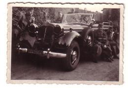 61179 Foto Soldaten Mit PKW Im 2. Weltkrieg - War 1939-45