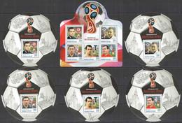 2016 BURUNDI FOOTBALL WORLD CUP RUSSIA 2018 SPORT ARCHAVINE KERJAKOV IGNACHEVITCH 1KB+5BL MNH - 2018 – Rusia