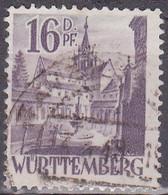Deutschland-Württemberg 1948. Kloster Bebenhausen, Mi 20yII Gebraucht. Bedarfsstück, Zahnfehler - Abadías Y Monasterios