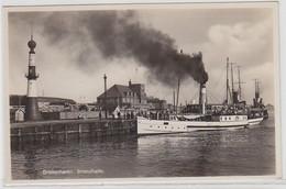 62438 Ak Bremerhaven Strandhalle Mit Dampfer Um 1940 - Zonder Classificatie