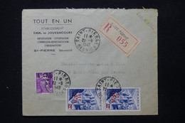 RÉUNION - Enveloppe Commerciale En Recommandé De St Pierre Pour La France En 1949, Affranchissement Surchargés - L 84688 - Sin Clasificación