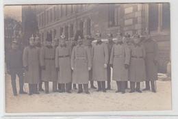 63841 Foto Ak Borna ? Offiziere Vor Der Karabinier Regiment Kaserne Um 1915 - Sin Clasificación