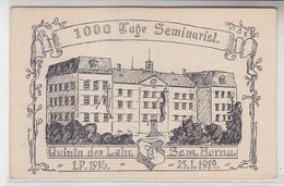 64349 Ak Handgemalt 1000 Tage Seminarist. Lehrer Seminar Borna 1916-1919 - Sin Clasificación