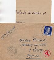 L-  Cachet  Censure,pli Du S T O- - 2. Weltkrieg 1939-1945