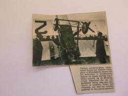 "Origineel Knipsel ( A 557 ) Uit Tijdschrift "" De Stad ""  1932 :   Vliegplein  Vliegveld  Wevelghem  Wevelgem - Non Classificati"