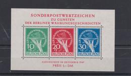 Berlin (West) 1949 Block 1 ** Superb - Für Berliner Währungsgeschädigte - Lettres & Documents