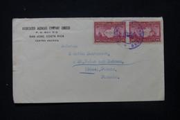 COSTA RICA - Enveloppe Commerciale De San José Pour La France En 1937 - L 84708 - Costa Rica