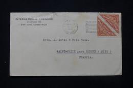 COSTA RICA - Enveloppe Commerciale De San José Pour La France En 1938 - L 84715 - Costa Rica