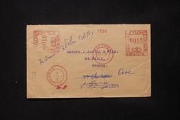 CEYLAN - Enveloppe Commerciale De Colombo Pour La France En 1956, Affranchissement Mécanique - L 84720 - Sri Lanka (Ceylon) (1948-...)