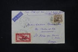 INDOCHINE - Enveloppe Commerciale ( Soie ) De Hanoi Pour La France En 1938 Par Avion - L 84728 - Covers & Documents