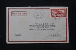INDOCHINE - Enveloppe Commerciale De Saigon Pour La France En 1937 Par Avion - L 84730 - Covers & Documents
