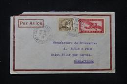 INDOCHINE - Enveloppe Commerciale De Saigon Pour La France En 1938 Par Avion - L 84731 - Covers & Documents