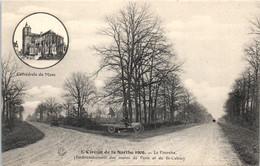 72 Circuit De La Sarthe 1906 - La Fourche - Embranchement Des Routes De Paris Et De St Calais - Sport Automobiles  * - Andere Gemeenten