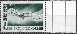 BRAZIL 1956 Air. Alberto Santos Dumont (aviation Pioneer) Commemoration - 3cr Santos Dumonts Biplane 14 Bis MNH - Luchtpost