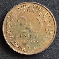 Coin France Moeda França 1963 20 Centavos 1 - E. 20 Centesimi