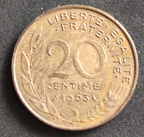 Coin France Moeda França 1963 20 Centavos 5 - E. 20 Centesimi