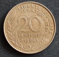 Coin France Moeda França 1964 20 Centavos 1 - E. 20 Centesimi