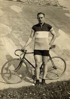 ECHTE FOTO TOINE MAZAIRAC ANTOINE BERGEN OP ZOOM AMATEUR WIELERKAMPIOEN ZURICH 1929 SPRINT  WIELRENNEN CYCLISMO CYCLISME - Ciclismo