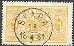 ZWEDEN 1874-77 24öre Dienstzegel Tanding 14 GB-USED - Officials