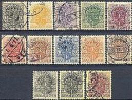 ZWEDEN 1910-14 Dienstzegels Met WM Kroon Serie GB-USED - Officials