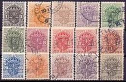 ZWEDEN 1911-19 Dienstzegels Serie GB-USED - Officials