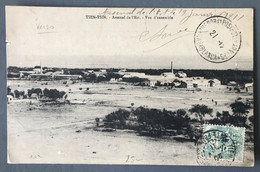 Chine N°75 Sur CPA TAD Tien-Tsin 19.1.1911, Pour Le Maroc, TAD T&P Aux Armées CASABLANCA - (B468) - Briefe U. Dokumente