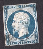 Louis-Napoléon N° 10 Bleu - Oblitéré - 1852 Louis-Napoleon