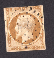 Louis-Napoléon N° 9 Bistre-jaune - Oblitération Losange PC - 1852 Luis-Napoléon