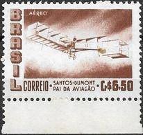 BRAZIL 1956 Air. Alberto Santos Dumont (aviation Pioneer) Commemoration - 6cr50 Santos Dumonts Biplane 14 Bis MNH - Luchtpost