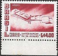 BRAZIL 1956 Air. Alberto Santos Dumont (aviation Pioneer) Commemoration - 4cr Santos Dumonts Biplane 14 Bis MNH - Luchtpost