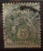 CAVALLE 1902, Type Blanc 5 C Vert Jaune   Yvert No 10 Obl  , TB - Oblitérés