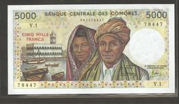 Comores, 5000 Comorian Francs, 1976 - Comoros