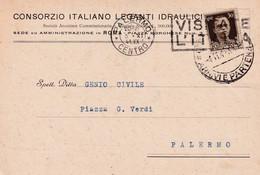 Cartolina Pubblicitaria - Consorzio Italiano Leganti Idraulici - Civitavecchia - Cent 30 - Storia Postale