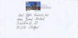 BRD / Bund BWPost TGST 2020 + 75 Cent Standard Stadtkirche Esslingen Bedarfspost - Private & Local Mails