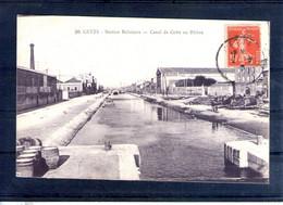 34. Sete. Station Balnéaire. Canal De Cette Au Rhône - Sete (Cette)