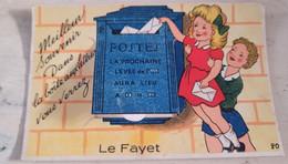"""CPA SAINT GERVAIS LE FAYET(74) - CARTE A SYSTEME 10 VUES """"MEILLEUR SOUVENIR DANS VOTRE BOÎTE AUX LETTRES"""" - ÉDITION GABY - Saint-Gervais-les-Bains"""