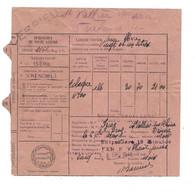 1948 CESSIEU (ISERE) - LAISSER PASSER POUR SPIRITUEUX A DESTINATION DE M. IZIER A SAINT VALLIER/RHONE (DROME) - Eisenbahnverkehr