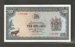 Rhodésie, 10  Rhodesian Dollars, 1979 - Rhodesia